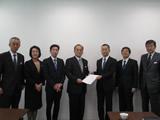 首都圏新都市鉄道(株)へ要望書提出(平成29年2月10日)